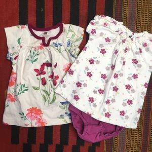 Tea Collection Girls 3-6 Month Lot Dress Outfit